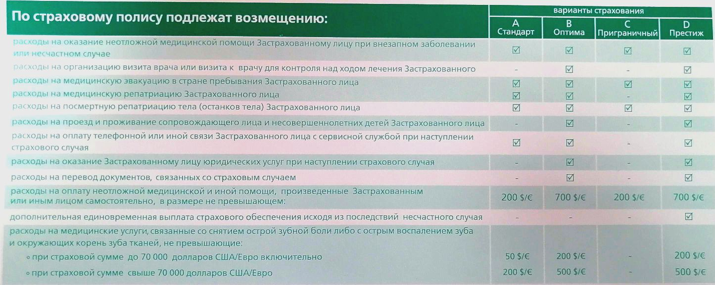 Оформление анкеты на литовскую визу при покупке страховки.
