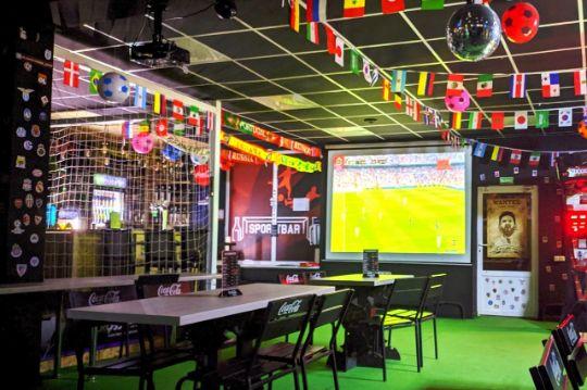 Прямая трансляция футбола в спорт баре