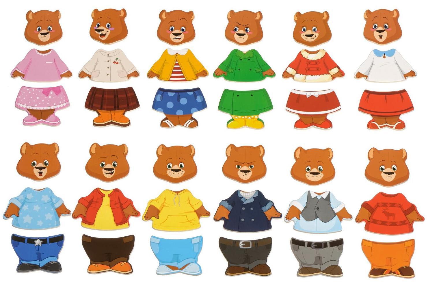 Деревянная игрушка четыре медведя МДИ