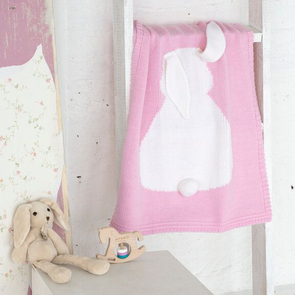 Детский плед APERO зайка розовый 60х120 см