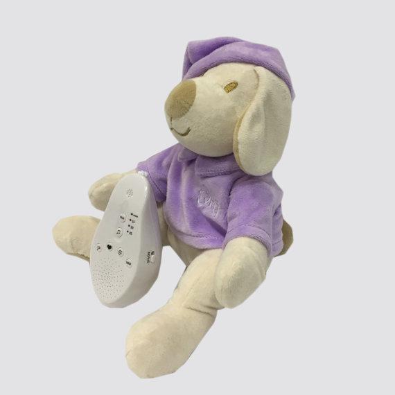 Собачка фиолетовая Drema BabyDou 114 Игрушка с белым и розовым шумом