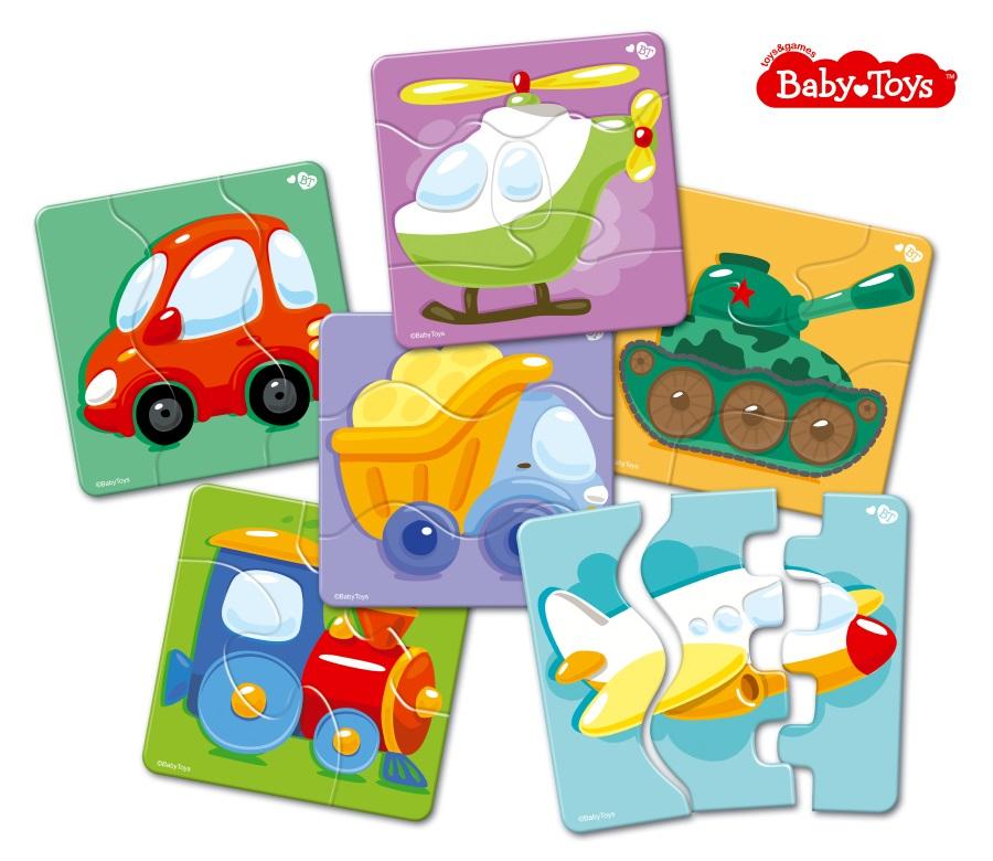 Тройные зиг-заг пазлы Baby Toys Транспорт