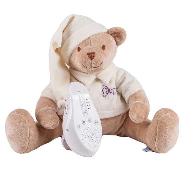 Мишка бежевый Drema BabyDou 101 Игрушка с белым и розовым шумом
