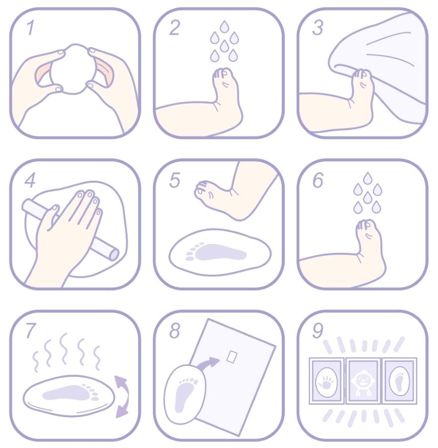Набор Десятое королевство для изготовления слепков ножек и ручек Лапочка