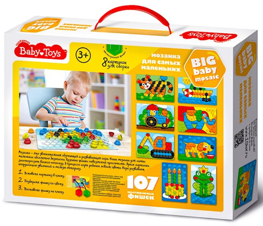 Мозаика Baby Toys для самых маленьких Трактор 107 эл